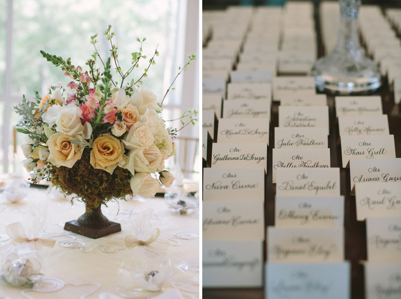 place card and centerpiece