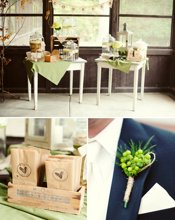 Country wedding details of antiques